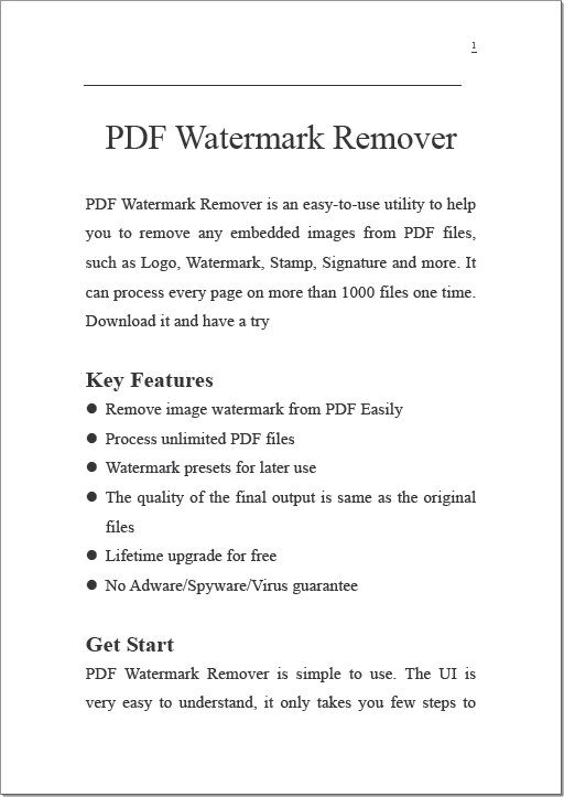 remove pdf image watermark easily